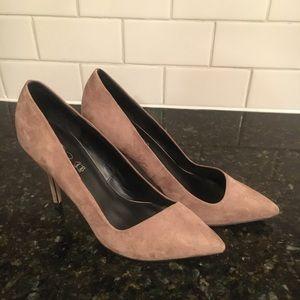 ALDO Taupe Leather Heels-Size 8